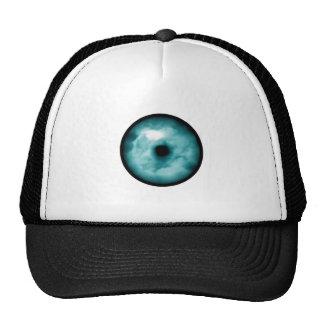 Aguamarina azul del gráfico de la nube del ojo ver gorras de camionero