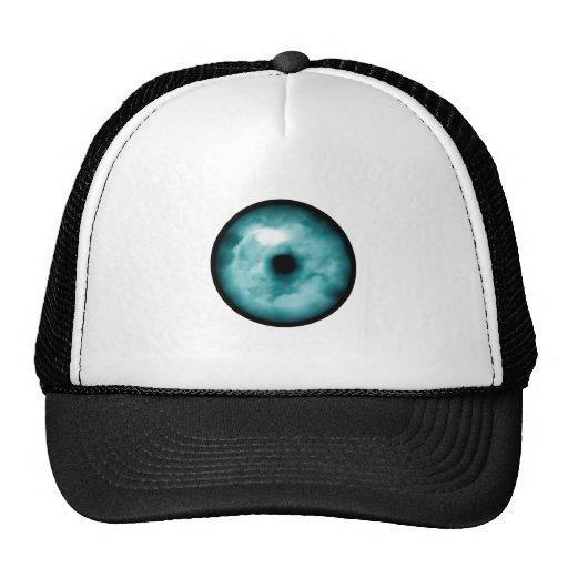 Aguamarina azul del gráfico de la nube del ojo ver gorra
