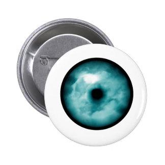 Aguamarina azul del gráfico de la nube del ojo ver pin redondo 5 cm