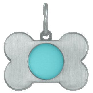 Aguamarina azul placas mascota