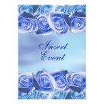 Aguamarina azul que casa color de rosa elegante invitacion personal