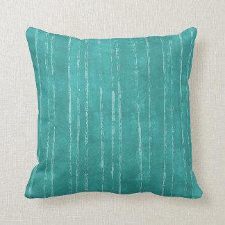Aguamarina azul y modelo blanco de la raya almohadas