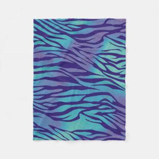 Aguamarina azul y rayas púrpuras de la cebra manta polar
