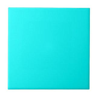 Aguamarina azulverde. Para el día de fiesta, boda, Azulejo Cuadrado Pequeño