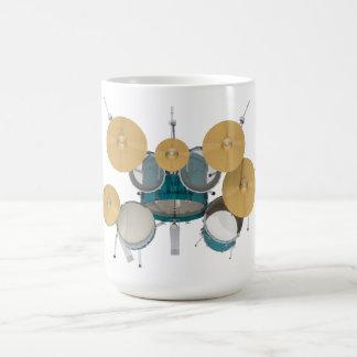 Aguamarina/batería de la turquesa: taza de café