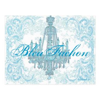 Aguamarina Bleu Fachon. de Postcard~ del negocio Tarjeta Postal