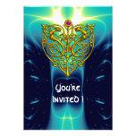 Aguamarina brillante de la TARJETA DEL DÍA DE SAN  Invitaciones Personales