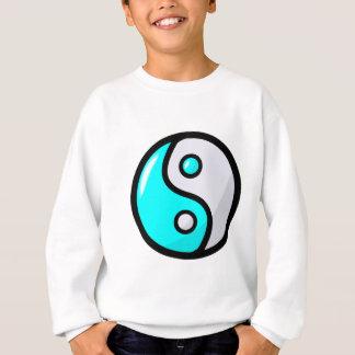 Aguamarina brillante Yin Yang en equilibrio Sudadera