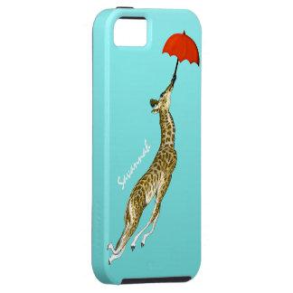 Aguamarina colorida linda que vuela el paraguas de iPhone 5 Case-Mate cárcasa