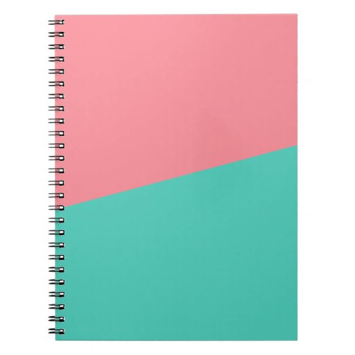 Aguamarina + Cuaderno de color salmón
