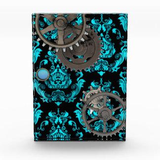 Aguamarina damasco de Steampunk y premio del estañ