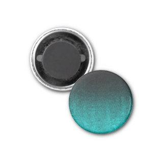 Aguamarina de Falln y pendiente negra del brillo Imán Redondo 3 Cm