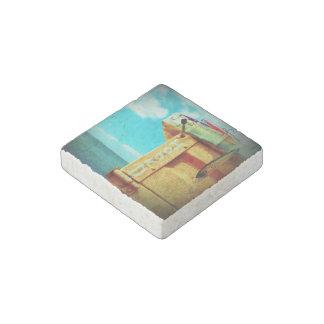 Aguamarina de la caja de aparejos de los pescados imán de piedra