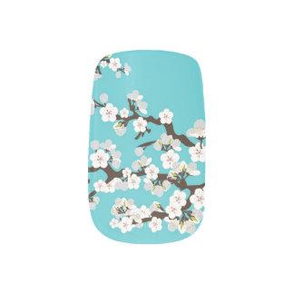 Aguamarina de la moza descarada de Sakura de las Pegatinas Para Manicura