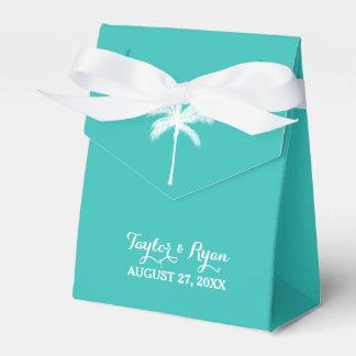 Aguamarina de la palmera que casa la caja del caja para regalos