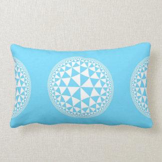 Aguamarina de la turquesa y mandala llenada almohadas