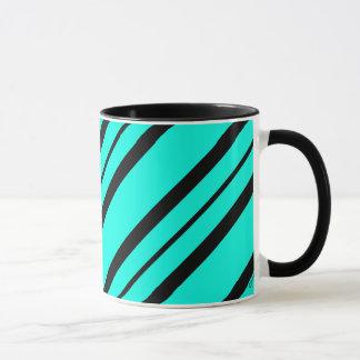 """Aguamarina de los """"acentos elegantes"""" y taza negra"""