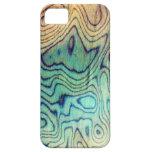 Aguamarina de madera iPhone 5 Case-Mate protectores