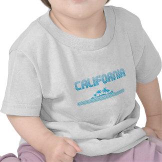 AGUAMARINA de neón de las palmeras de California Camiseta