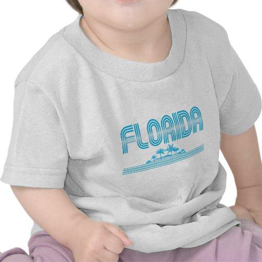 AGUAMARINA de neón de las palmeras de la Florida Camiseta
