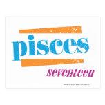 Aguamarina de Piscis Tarjetas Postales
