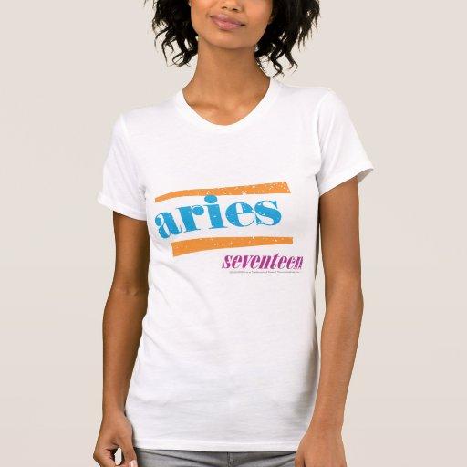 Aguamarina del aries camisetas