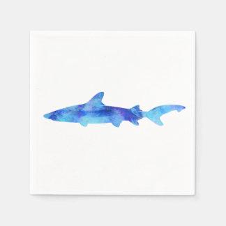 Aguamarina del azul del trullo del tinte de la servilleta desechable
