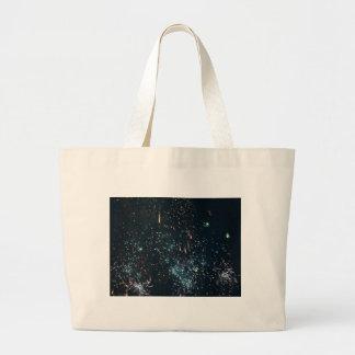 aguamarina del chapoteo del meteorito de los fuego bolsa tela grande