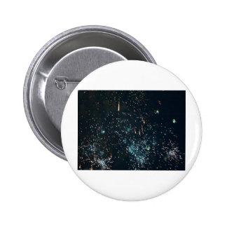 aguamarina del chapoteo del meteorito de los fuego pin
