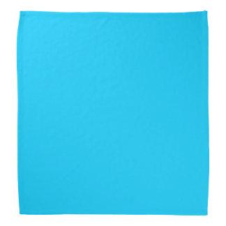 Aguamarina del color sólido azul bandana