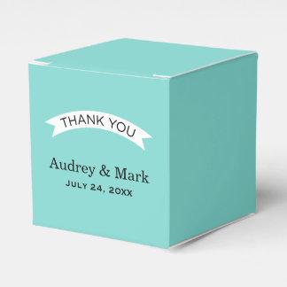 Aguamarina del envase el   del favor del boda azul caja para regalo de boda