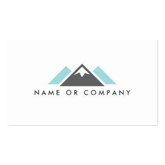 Aguamarina del logotipo de la colina o de la monta tarjeta de visita