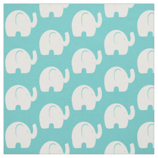 Aguamarina del modelo del elefante blanco telas