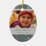 Aguamarina del ornamento de la abuela de las Felic Ornamento De Navidad