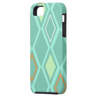 Aguamarina del papel pintado del diamante - caso iPhone 5 fundas