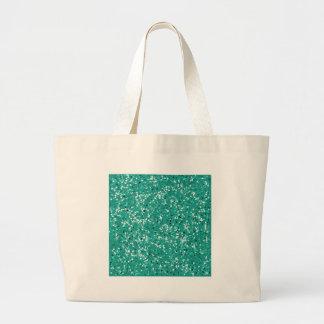 Aguamarina del verde azul del brillo bolsa de mano