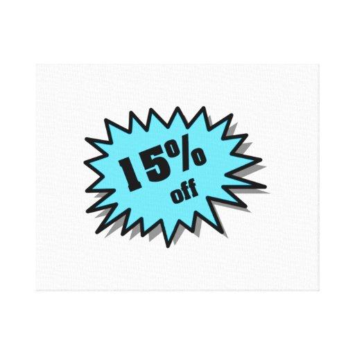 Aguamarina el 15 por ciento apagado lienzo envuelto para galerías
