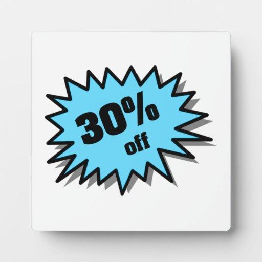 Aguamarina el 30 por ciento apagado placas para mostrar