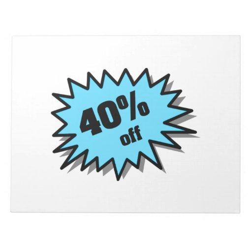 Aguamarina el 40 por ciento apagado blocs