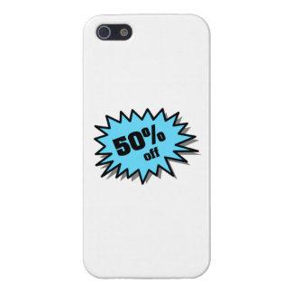 Aguamarina el 50 por ciento apagado iPhone 5 carcasa