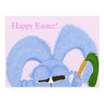 Aguamarina el conejito con los ojos soñolientos tarjeta postal