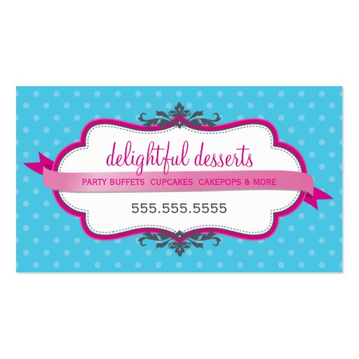 Aguamarina elegante linda del rosa del fuschia de tarjetas de visita