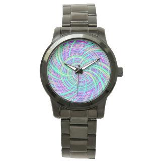 Aguamarina feliz (c) relojes de pulsera