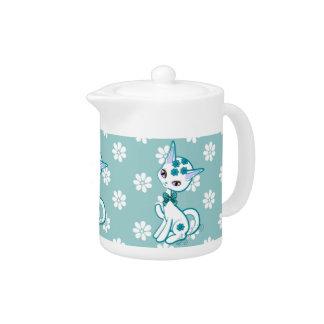 Aguamarina femenina linda Blue~ del gato del gatit