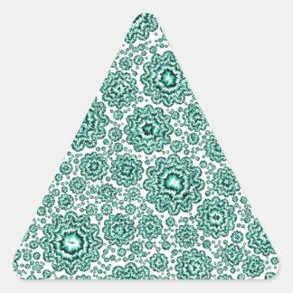 aguamarina floral trippy (c) pegatina triangular