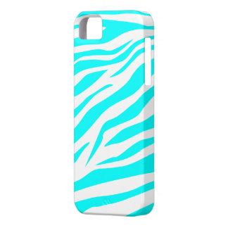 Aguamarina fresca estampado de zebra blanco - caso iPhone 5 coberturas