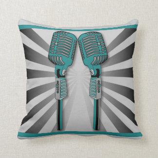 Aguamarina gemela de la almohada de los micrófonos