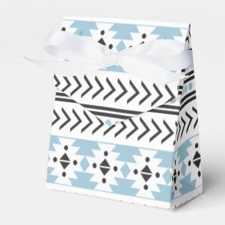 Aguamarina geométrica del modelo de la impresión cajas para detalles de boda