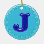 Aguamarina J inicial Ornamentos De Reyes