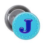 Aguamarina J inicial Pins